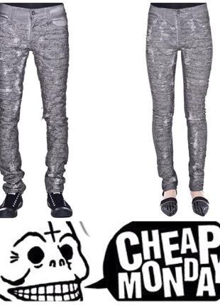 Унисекс скинни джинсы cheap monday, на 31/32 размер, тянутся