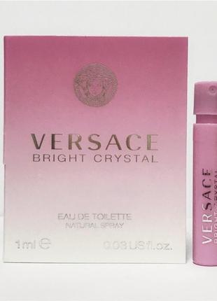 Пробник versace bright crystal 1ml оригинал виалка