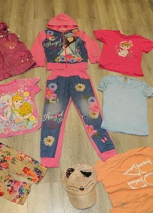 Комплект одежды на девочку 6-8лет, 116-134см, спортивный костюм жилетка
