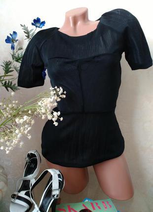 Блузка с отрезной талией, с баской h&m