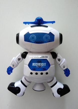 Детская игрушка танцующий робот светящийся dancing robot дискоробот