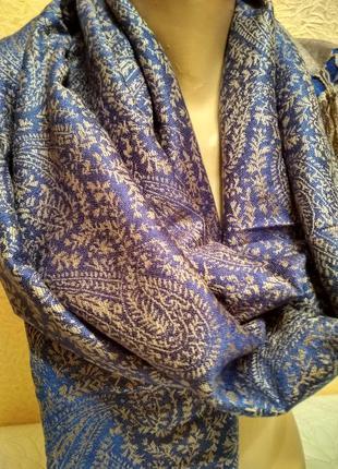 Двухсторонний палантин, шаль,шарф  68 х 180
