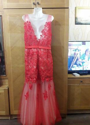 Ever pretty р.18  шикарное вечернее кружевное платье для особых  случаев2 фото