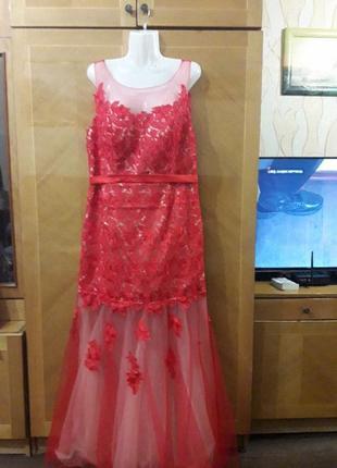 Ever pretty р.18  шикарное вечернее кружевное платье для особых  случаев1 фото