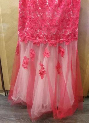 Ever pretty р.18  шикарное вечернее кружевное платье для особых  случаев7 фото