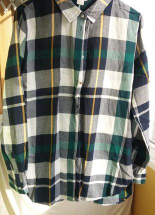 Рубашка в клетку h&m