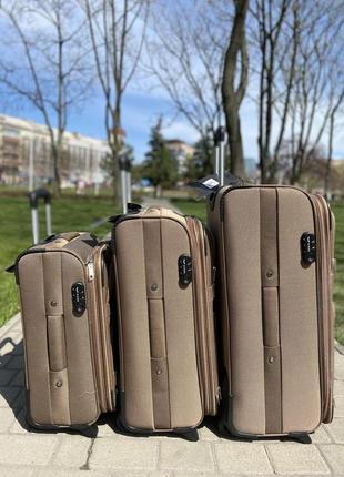 Валіза на 2 колеса ,чемодан,текстиль ,тканевый ,надёжный ,качественный ,польский бренд,3 фото