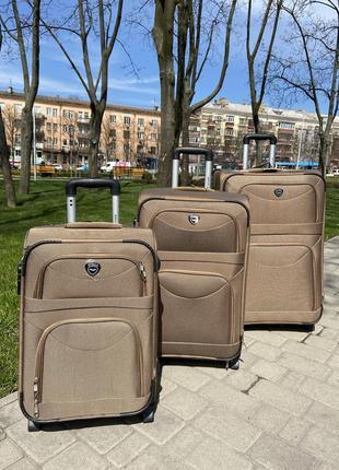 Валіза на 2 колеса ,чемодан,текстиль ,тканевый ,надёжный ,качественный ,польский бренд,2 фото