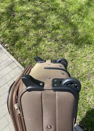 Валіза на 2 колеса ,чемодан,текстиль ,тканевый ,надёжный ,качественный ,польский бренд,5 фото