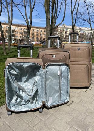 Валіза на 2 колеса ,чемодан,текстиль ,тканевый ,надёжный ,качественный ,польский бренд,4 фото