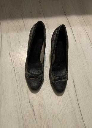 Туфли кожа и ткань р 38