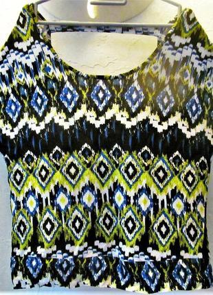 Брендовый топ футболка с вырезом на спинке, низ на усиленной планке xs,s5 фото