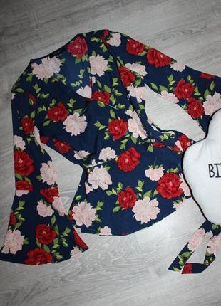 🎁1+1=3🎁🎁🎁 красивая блуза на запах atmosphere