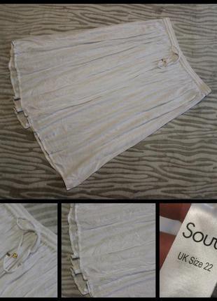 South.белоснежная юбка.100% вискоза.