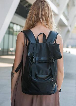 Черный городской рюкзак roll, black