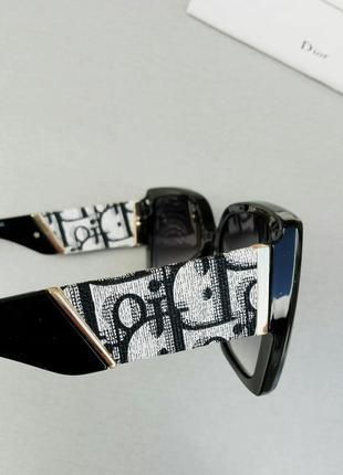 Christian dior очки женские солнцезащитные большие черные с градиентом7 фото
