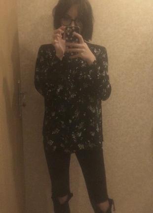 Блуза в цветочек h&m