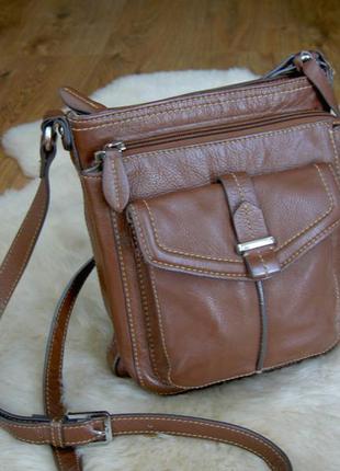 Кожаная сумка через плечо clarks оригинал