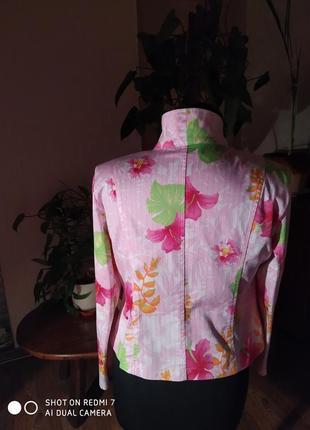 Весенне-летний, яркий пиджак из натурального хлопка3 фото