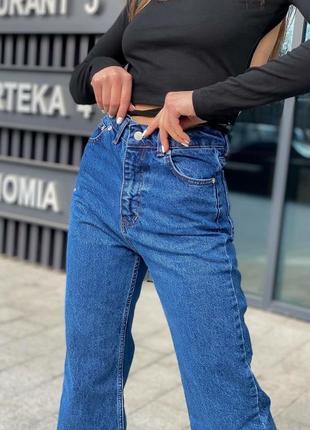 Синие джинсы палаццо, момы. распродажа.3 фото