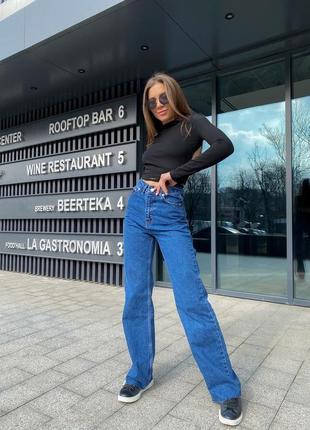 Синие джинсы палаццо, момы. распродажа.4 фото