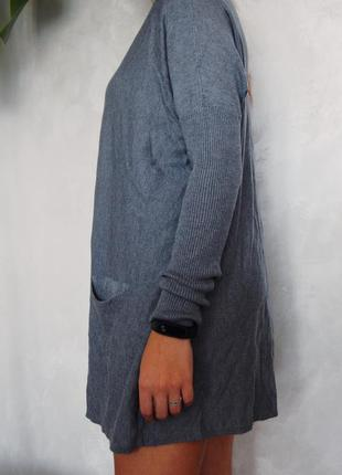 Платье туника серого цвета