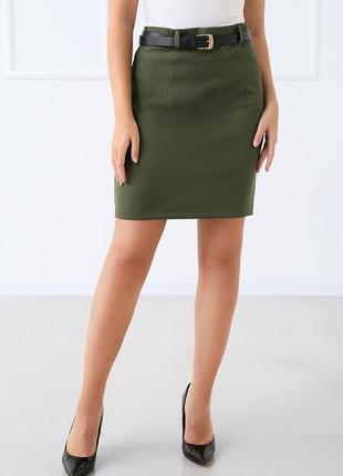 Базовая женская мини юбка с высокой талией.