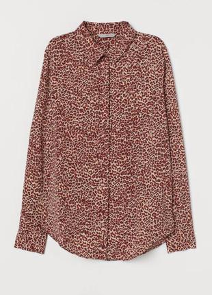 Рубашка с леопардовым принтом h&m