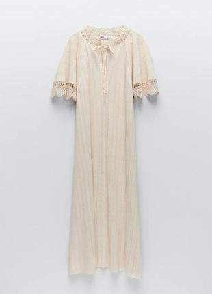 Трикотажное платье миди zara