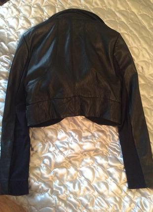 Крутая кожаная куртка bcbg max azria