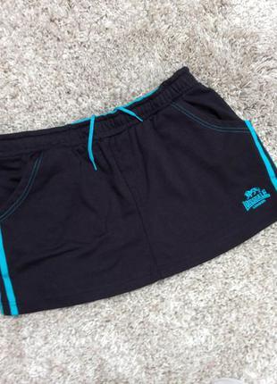 Спортивная короткая трикотажная юбка