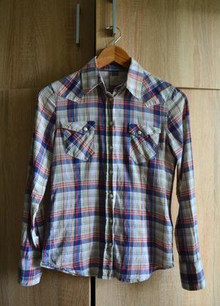 Классическая клетчатая рубашка от wrangler