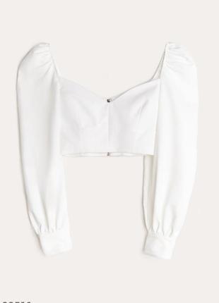 🔥трендовый топ блуза с объёмными рукавами7 фото