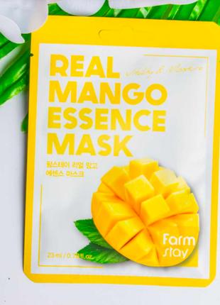 Тканевая маска с экстрактом манго farmstay mango real essence mask, 23м