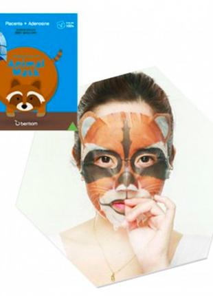 Berrisom animal mask series raccoon – маска-енот с экстрактом плаценты