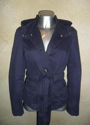 Оригинальная хлопковая фиолетовая куртка пиджак ветровка a|x s