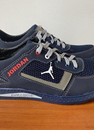 Туфли мужские весенние летние спортивные синие - чоловічі туфлі весняні літні спортивні
