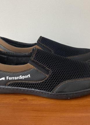 Туфли мужские весенние летние черные - чоловічі туфлі весняні літні чорні