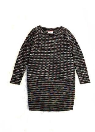 Стильное трикотажное вязаное платье оверсайз m/l италия 🇮🇹 оригинал