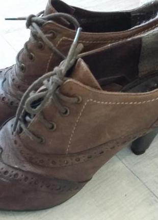 Туфли осенние кожаные