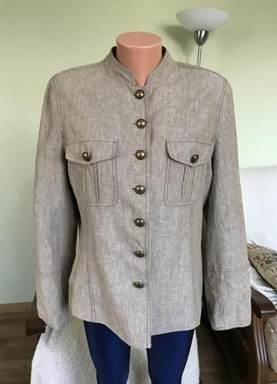 Стильный льняной пиджак