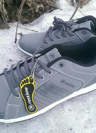 Спортивные туфли restime, серый нубук, оригинал.41, 42, 43