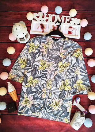 Красивая блуза кимоно в цветочный принт new look