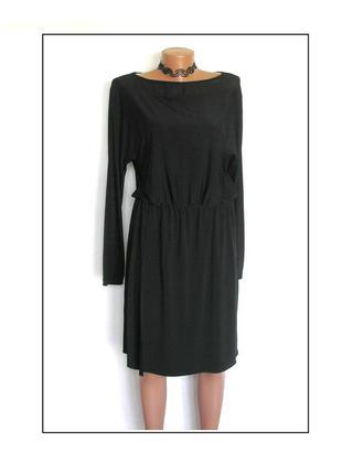 Трикотажное платье с длинным рукавом, новое
