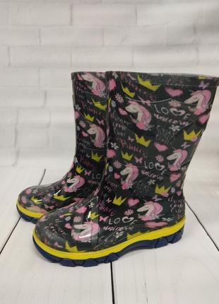 Детские резиновые сапоги резинові гумові чоботи