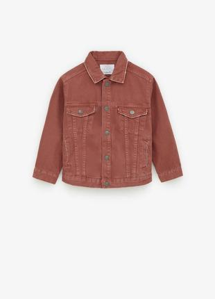 Стильная джинсовая куртка пиджак  zara