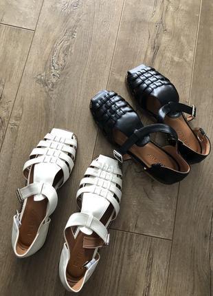 Рыбацкие  сандали гладиаторы в стиле the row дедушкины тапки
