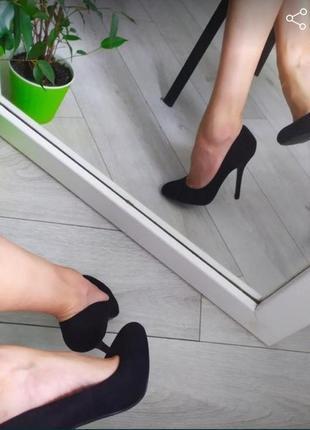 Туфли лодочки чёрные ( классические лодочки)