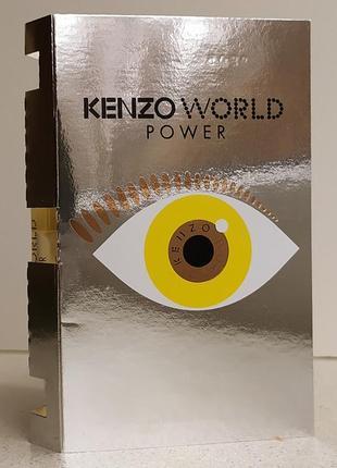 Парфюмированная вода женская  (пробник) kenzo world power