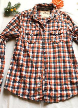 Байковая мягкая рубашка в клетку бренд сток
